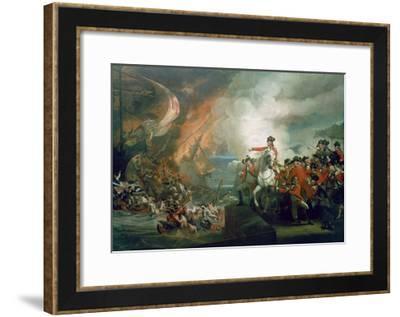 The Defeat of the Floating Batteries at Gibraltar, September 1782, 1783-91-John Singleton Copley-Framed Giclee Print