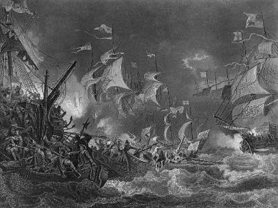 The Defeat of the Spanish Armada, 1588-J Rogers-Giclee Print
