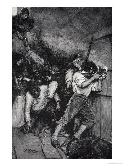 The Defence of Fort Boonesborough, Kentucky in c.1795, Published in Harper's Magazine, June, 1887-Howard Pyle-Giclee Print