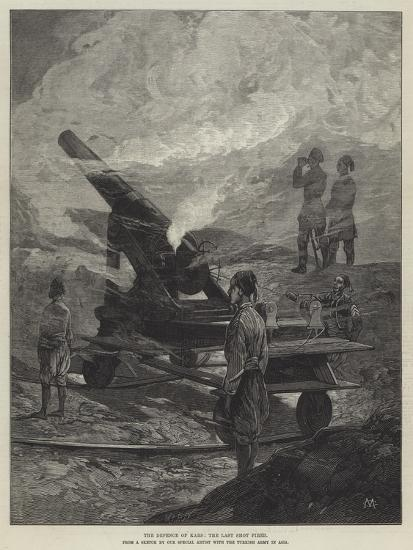 The Defence of Kars, the Last Shot Fired-Charles Auguste Loye-Giclee Print