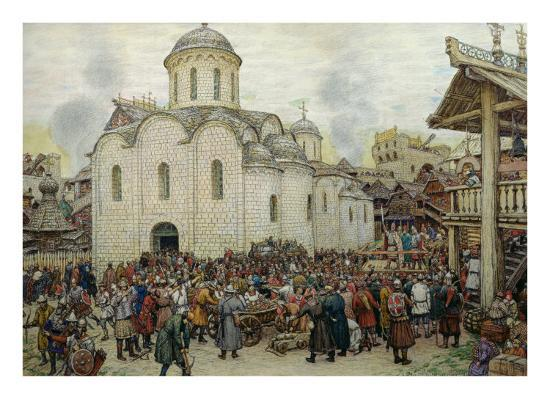 The Defence of the Town, 1918-Apollinari Mikhailovich Vasnetsov-Giclee Print
