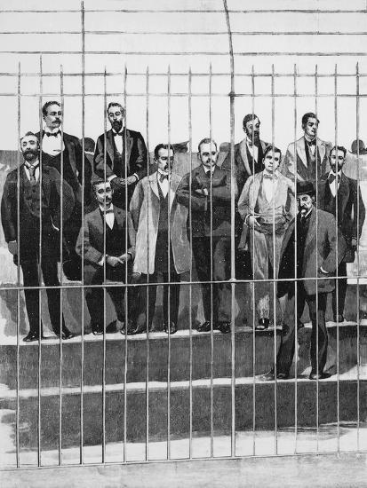 The Defendants in the Trial of Giuseppe De Felice Giuffrida--Giclee Print