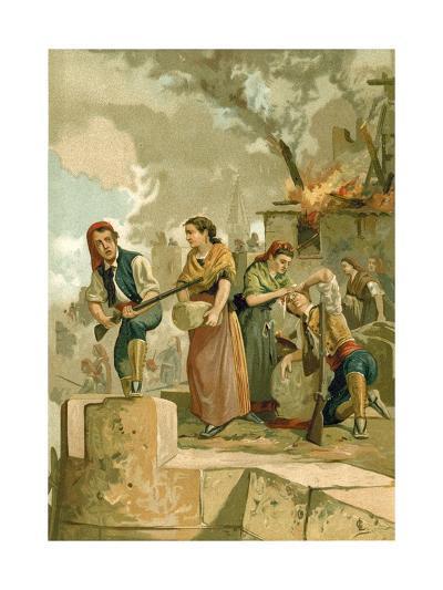 The Defenders of Gerona--Giclee Print