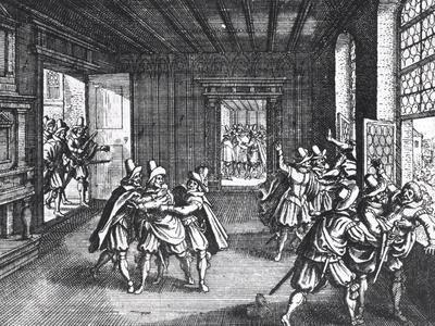 The Defenestration of Prague in 1618--Framed Giclee Print