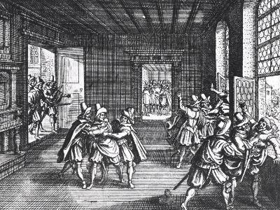 The Defenestration of Prague in 1618--Giclee Print