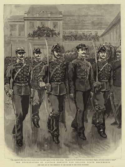 The Degradation of Captain Dreyfus for Selling State Documents--Giclee Print