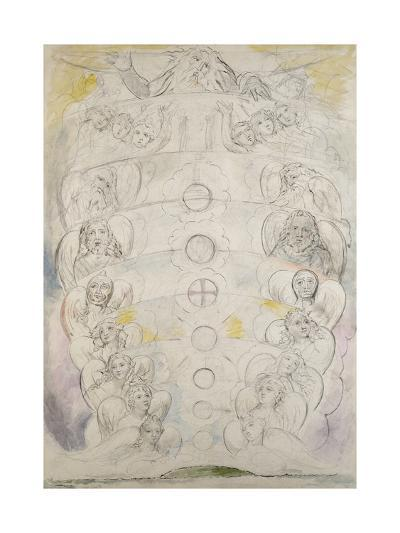 The Deity, from Whom Proceed the Nine Spheres, Illustration to the 'Divine Comedy', Paradiso-William Blake-Giclee Print