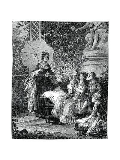 The Delight of Motherhood- Moreau-Giclee Print