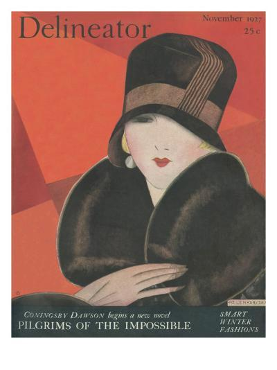 The Delineator November 1927--Giclee Print
