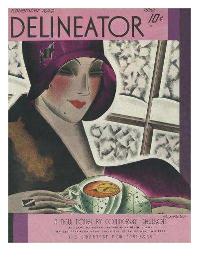The Delineator November 1929--Giclee Print