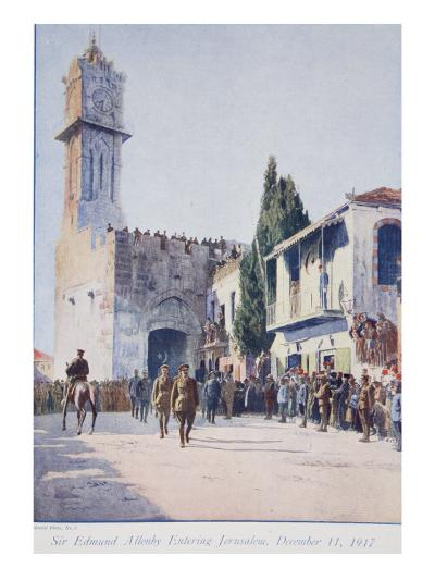 The Deliverers of Jersualem: Sir Edmund Allenby's Historic Entry into the Holy City, 1914-19--Giclee Print