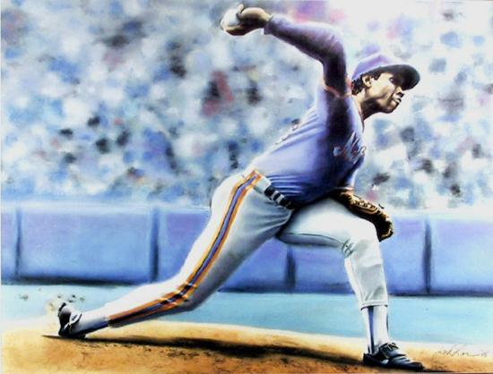 The Delivery (New York Mets Dwight Gooden)-Jack Lane-Collectable Print