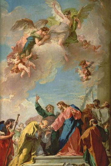 The Delivery of the Keys to St. Peter-Giovanni Battista Pittoni-Giclee Print