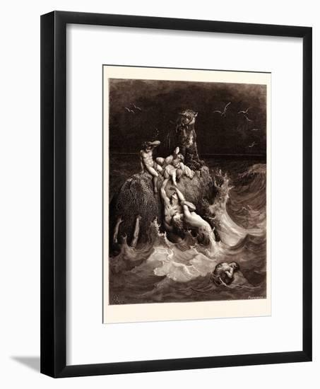 The Deluge-Gustave Dore-Framed Giclee Print