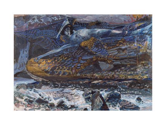 The Demon Downcast-Mikhail Alexandrovich Vrubel-Giclee Print