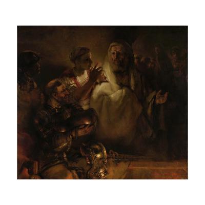 The Denial of St. Peter, 1660-Rembrandt van Rijn-Giclee Print
