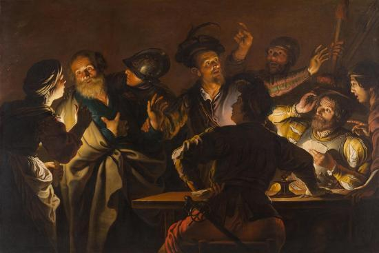 The Denial of St. Peter, c.1620-1625-Gerard Seghers-Giclee Print
