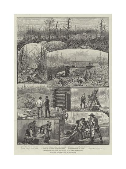 The Denison Gold-Mines, Near Algoma, Lake Huron, Upper Canada-Melton Prior-Giclee Print