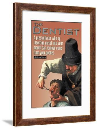 The Dentist--Framed Art Print