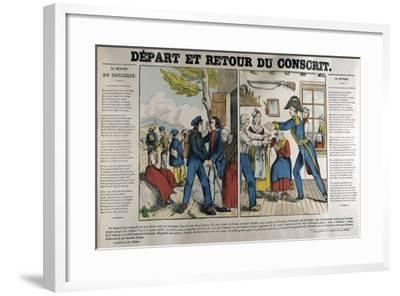 The Departure and Return of the Conscript, 19th Century--Framed Giclee Print