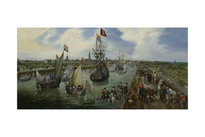 The Departure of a Dignitary from Middelburg, 1615-Adriaen Pietersz van de Venne-Giclee Print