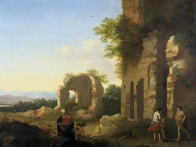 The Departure of Abraham and Isaac, 17th Century-Cornelis van Poelenburgh-Giclee Print