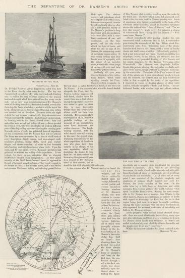 The Departure of Dr Nansen's Arctic Expedition--Giclee Print