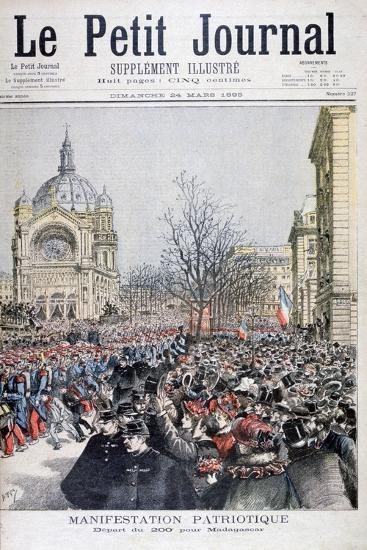 The Departure of French Troops to Madagascar, Paris, 1895-Henri Meyer-Giclee Print