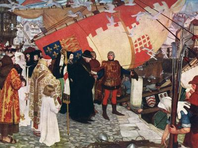 The Departure of John and Sebastian Cabot...On their First Voyage of Discovery in 1497, 1906-Ernest Board-Giclee Print