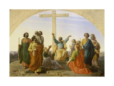 The Departure of the Apostles, 1845-Marc Charles Gabriel Gleyre-Giclee Print