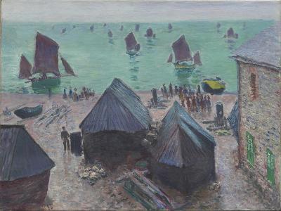 The Departure of the Boats, Étretat, 1885-Claude Monet-Giclee Print