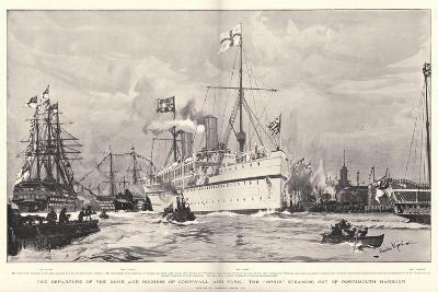 The Departure of the Duke and Duchess of Cornwall and York-Charles Edward Dixon-Giclee Print
