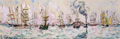 The Departure of the Fishing Trawlers to Newfoundland, 1928 (W/C on Paper)-Paul Signac-Giclee Print