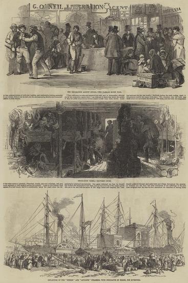The Depopulation of Ireland--Giclee Print