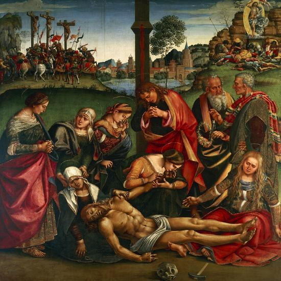 The Deposion or the Lamentation over the Dead Christ, 1502-Luca Signorelli-Giclee Print