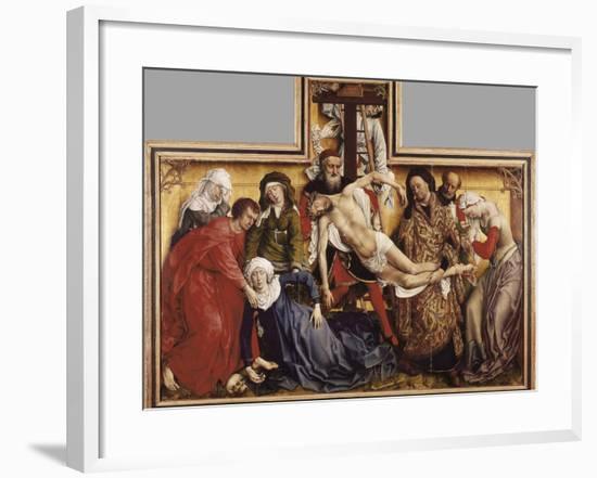 The Deposition from the Cross-Rogier van der Weyden-Framed Art Print