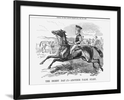 The Derby Day - Another False Start., 1858--Framed Giclee Print