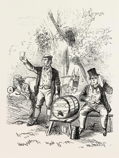 The Derby Day, Scenes by the Roadside and on the Downs: Roadside Refreshments. Uk, 1860--Giclee Print