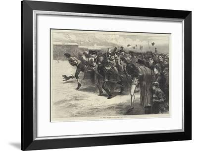 The Derby, the Rush on the Course, Who's Won?-Edwin Buckman-Framed Giclee Print