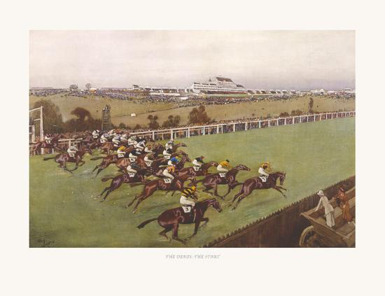 The Derby, The Start-Cecil Aldin-Premium Giclee Print