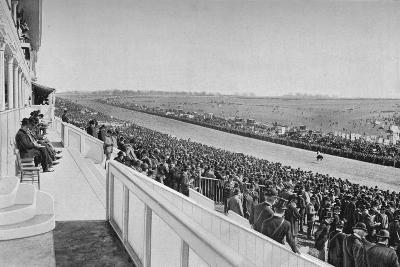 The Derby: View Down The Course, c1903, (1903)-WA Rouch-Photographic Print