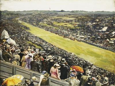 The Derby-Sir John Lavery-Giclee Print
