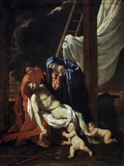 The Descent from the Cross, 1620s-Nicolas Poussin-Giclee Print
