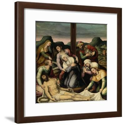 The Descent from the Cross, 16th century-Vicente Macip Comes-Framed Giclee Print