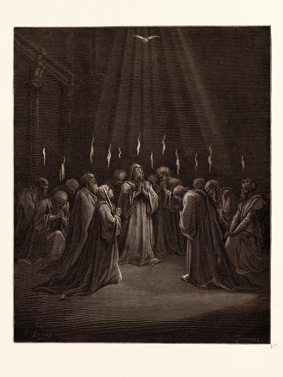 The Descent of the Spirit-Gustave Dore-Giclee Print