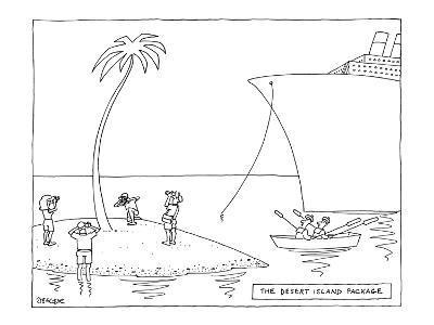 The Desert Island Package - New Yorker Cartoon-Jack Ziegler-Premium Giclee Print