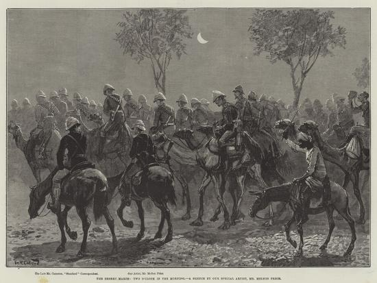 The Desert March, Two O'Clock in the Morning-William Heysham Overend-Giclee Print