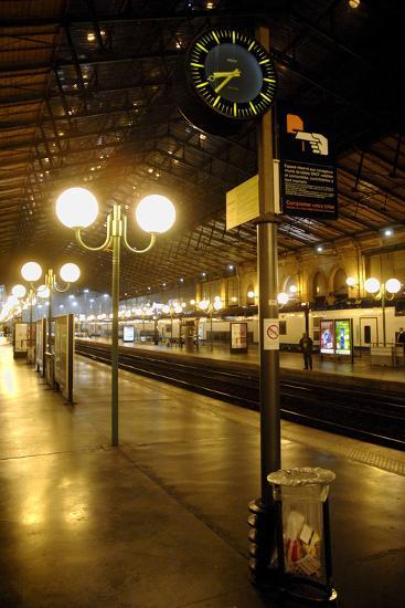 The Deserted Gare Du Nord Railway Station in Paris, France-Yoan Valat-Photographic Print