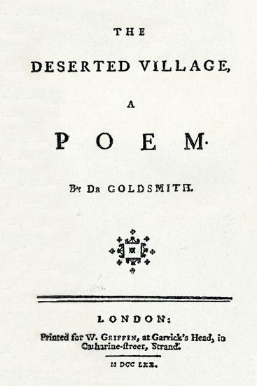 'The Deserted Village, A Poem', c1770-Unknown-Giclee Print