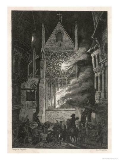 The Destruction of Old Saint Paul's Cathedral-J. Franklin-Giclee Print